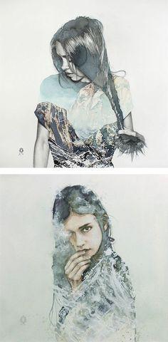 blendscapes by oriol angrill jordà, watercolour portrait, illustration, art insperation (scheduled via http://www.tailwindapp.com?utm_source=pinterest&utm_medium=twpin&utm_content=post548783&utm_campaign=scheduler_attribution)