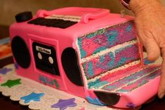 Boombox Cake (unicorn cakes table)