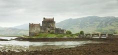 size: Photographic Print: Eilean Donan Castle on a Cloudy Day, Scotland. UK by A_nella : Skibo Castle, Scottish Bagpipes, Scotland Castles, Scotland Uk, Eilean Donan, Travel Oklahoma, Medieval Castle, Cloudy Day, New York Travel