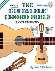 The Guitalele Chord Bible, with its 1,728 chords offers a complete solution for both beginner and experienced professional musician alike. The layout is uncomplicated and follows a logical musical progression from standard major chords up to the more esoteric thirteenths used by many jazz players. To accompany the 1,728 chords, a further 576 possible moveable chord configurations are included, together with a useful range of slash chords.