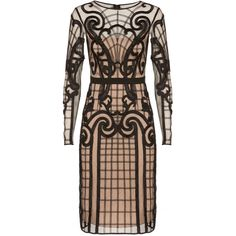 Temperley London Catroux Dress ($1,651) ❤ liked on Polyvore featuring dresses, vestidos, cocktail dresses, black, fitted dresses, temperley london, embroidered dress, button dress and embroidery dresses
