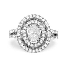 1.84ct D SI2 OVAL CUT DIAMOND ENGAGEMENT RING 14K WHITE GOLD http://www.larrysfinejewelryinc.com