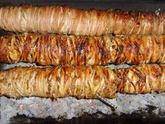 Most popular street food in Turkey, kokoreç.U cant miss it. #streetfood
