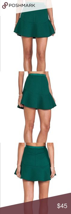 Quilted Flare Skirt NWT Quilted flare skirt with side zip. Hunter green. Brand new with tags! Perfect for holiday parties🎄✨                        •n o  t r a d e s• •s m o k e  f r e e / p e t  f r e e  h o m e•   •s a m e / n e x t  d a y  s h i p p i n g• Line & Dot Skirts