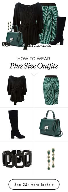 """""""Striped Skirt - Plus Size"""" by amo-iste on Polyvore featuring Givenchy, Dolce&Gabbana, Rebecca and Sole Society"""