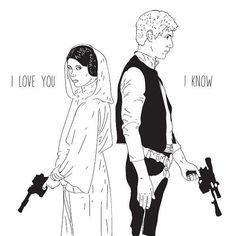 A5 Princess Leia and Han Solo 'I love you... I by Phieillustrates