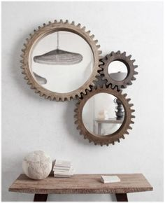 Industrial-Cog-Mirror-3pcs-Big-Wood-Aged-Factory-Industrial-Designer-Wall