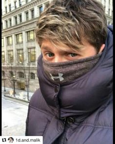 Made me laugh #Repost @1d.and.malik  Hi everyone How are you? Miss you all P.S My little babe freezing if he be with me he will never freeze . . . . . #niall #horan #niallhoran #onedirection