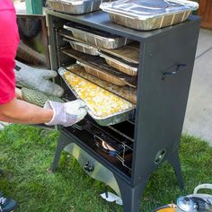 The advantages of a propane smoker are apparent immediately, from the portability to the ease and simplicity of use. A variety of food can be cooked quickly. Gas Smoker, Propane Smokers, Bbq Grill, Grilling, Bbq Guys, Best Gas Grills, Best Charcoal Grill, Camp Chef, Grill Design