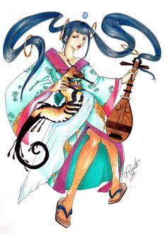 Benten Goddess by GisaPizzatto on deviantART