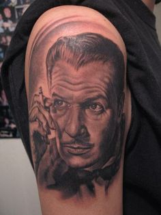 Young Vincent Price Tattoo by Bob Tyrrell
