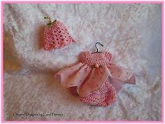 """OOAK ~ Spring Rosebud Dress Set ~ 5 -6 """" ~ by WishBerry"""