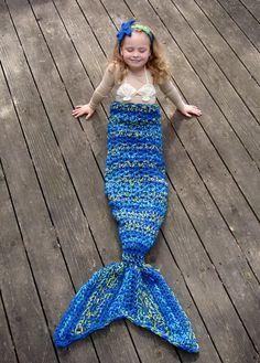 Crochet Patterns for Mermaid Tail, Headband, and Shell Bikini Top
