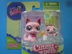 Littlest Pet Shop LPS Cutest Pets Baby and Mommy KITTY CAT  #2664 & #2665  , New