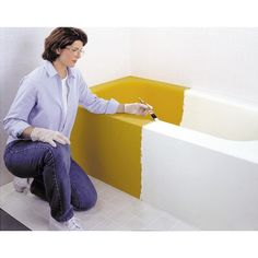 Rust-Oleum Specialty, White Tub and Tile Refinishing Kit, 7860519 at The Home Depot - Mobile Remodeling Mobile Homes, Home Remodeling, Bathroom Remodeling, Home Improvement Projects, Home Projects, Weekend Projects, Tile Refinishing, Camper Makeover, Makeover Tips