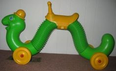The INCH WORM!! Another one of my FIRST TOYS!! My grandmother kept this thing for yeeeeears!