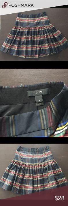 J. Crew Plaid Skirt Short pleased skirt. Brand new! J. Crew Skirts Midi