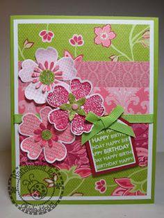 Stampin' Up Flower Shop Birthday Card from Okieladybug's blog
