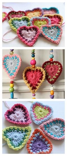 Crochet Boho Hearts Free Pattern by susana