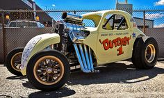 Rat Rod Cars, Old Race Cars, Vintage Race Car, Drag Cars, Car Humor, Drag Racing, Hot Rods, Cool Cars, Classic Cars