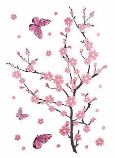 Wandsticker, Home affaire, »Kirschblüten mit Schmetterlingen« Jetzt bestellen unter: https://moebel.ladendirekt.de/dekoration/wandtattoos/wandtattoos/?uid=2a862f9b-fecd-5449-823d-8737bd950539&utm_source=pinterest&utm_medium=pin&utm_campaign=boards #zubehör #tattoos #bilder #dekoration