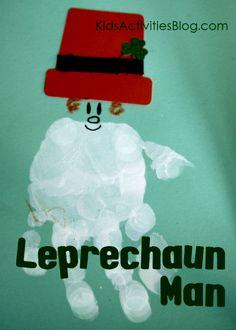 Leprechaun Craft: A St. Patrick's Day Handprint Man