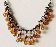 $25.00 Golden Drops - Gold and Black Swarovski Crystal Choker Necklace by BlueWorldTreasures.etsy.com Use #discountcode PIN10 for 10% off #handmadeincanada #elegant