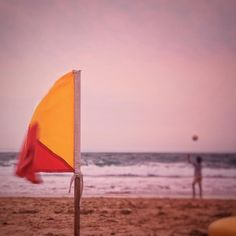 What are you waving at getting yourself all in a flap and everything. Beach Flags, Port Elizabeth, Instagram Feed, South Africa, Coast, Waves, Sea, Photography, Photograph