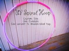 """Multicolored Polypro Gnarlypro Collection Custom by GnarHoops  UV Sassy Pink and UV Lavender GnarlyPro Spiral Tapes are magical, but wowza are hard surfaces damaging to such beautiful decor!  Getcho hoop on with a """"use-everywhere and anytime"""" designed polypro!"""