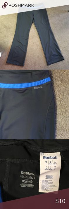 Reebok Stretchy Athletic Pants These are comfortable, stretchy Reebok athletic pants. They also have a pocket on the inside for a key. Reebok Pants Track Pants & Joggers