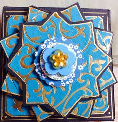 """""""Kerala"""" box, the lid seen from above"""