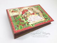 "I have created this pocket page mini album using Graphic 45's Twas the Night Before Christmas 12x12 papers. The album measures 8""x5 3/4"" and the pages measur..."