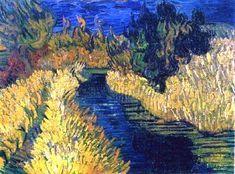 Van Gogh in Auvers-sur-Oise, France, 1890 Art Van, Van Gogh Art, Vincent Van Gogh, Van Gogh Landscapes, Landscape Paintings, Paul Gauguin, Claude Monet, Desenhos Van Gogh, Van Gogh Pinturas