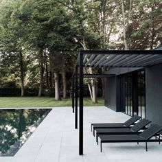 CD Poolhouse is a beautiful dwelling with simplicity, designed by Belgium-based architect and designer, Marc Merckx.