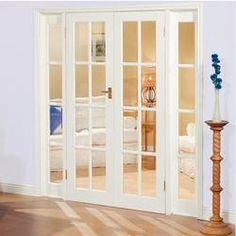 Wickes Newland Internal French Doors Pine Glazed 8 Lite 1981 x ...