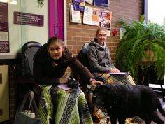 Yesterday in the Self-Care Cafe, the wet nose of a furry friend helped students let go of their post-exam stress.
