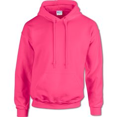 • $16.99 G18500: 7.75 oz., 50% cotton/50% polyester fleece.  • $19.99 G12500: Heavier 9.3 oz., 50% cotton/50% polyester fleece.  Both feature pill resistant Air Jet spun yarn. Two-ply hood with matching drawstring.