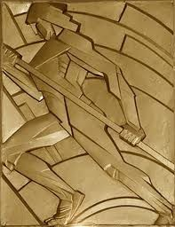 Art Deco: Inspired by lobby panels   on the historic..   Chanin building...