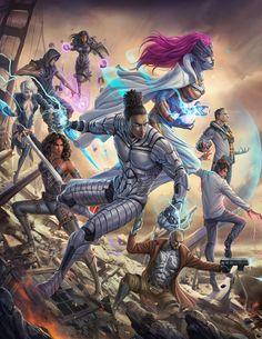 Group Shot Painting fixes copy. Black Cartoon Characters, Superhero Characters, Fantasy Characters, Marvel Dc, Gi Joe, Fantasy Warrior, Warrior 3, Black Comics, Black Artwork