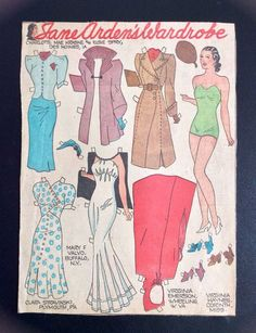 Jane Arden Old Sunday Funny Paper Doll 1930's Uncut Newspaper Section Jane…