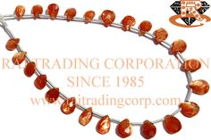 Sunstone Faceted Pear (Quality AAA) Shape: Pear Faceted Length: 18 cm Weight Approx: 3 to 5 Grms. Size Approx: 4.5x6 to 6x8 mm Price $13.20 Each Strand
