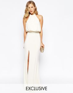 Изображение 1 из Платье макси c лифом в стиле халтер и цепочкой Forever Unique