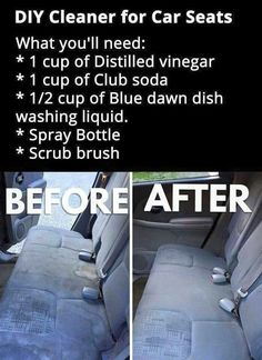 Car interior, sofa , carpet etc. Pic only. Car Cleaning Hacks, Car Hacks, Diy Cleaning Products, Cleaning Solutions, Organize Car, Cleaning Car Upholstery, Clean Car Seats, Clean Car Carpet, Seat Cleaner