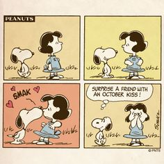 October advice from Snoopy.