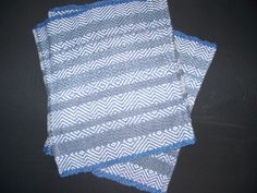 Blue & White Placemats, another simple and cheerful.  SOLD