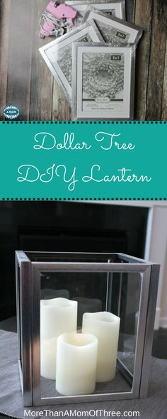 Make this frugal Dollar Tree DIY Lantern for only $4! #homedecor #diy #budget