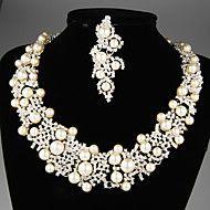 Wonderful Silvery Alloy with Pearls&Rhinestone We... – USD $ 49.99