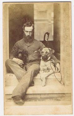 Hot Vintage Men: The Handsome 1890's Hipster with Dogs