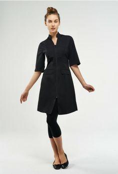 Spa and Beauty Salon Uniform, Spa Uniform, Uniform Ideas, Modest Dresses, Dresses For Work, American Uniform, Salon Wear, Smocks, Work Uniforms