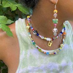 Hippie Jewelry, Dainty Jewelry, Cute Jewelry, Beaded Jewelry, Jewelry Accessories, Beaded Bracelets, Handmade Jewelry, Handmade Necklaces, Accesorios Casual
